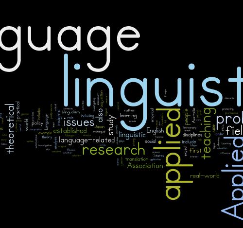 Linguistics word cloud