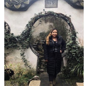 Jazmin at the Great Wall in China