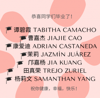 Spring 2021 Chinese Minor Graduates